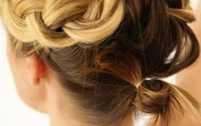 Leichte Frisur für kurze Haare