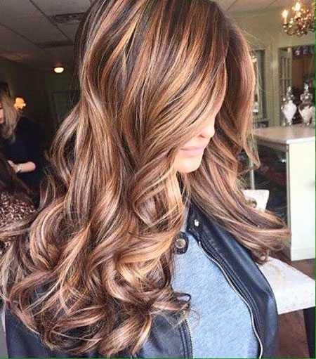 14 lange lockige braune frisuren - haar frisuren