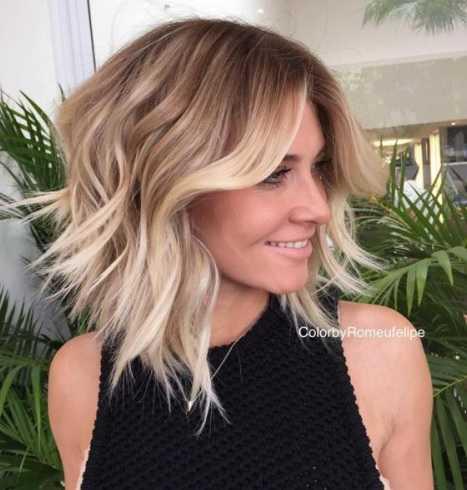 Moderne halblange frisuren bilder