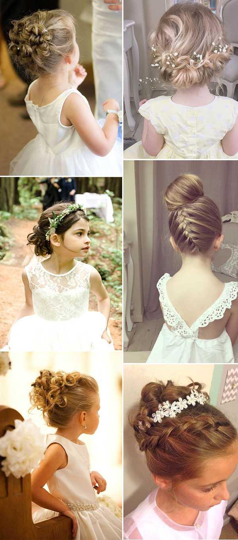 2018 Neue Hochzeitsfrisuren Fur Braute Und Blumenmadchen Haar Frisuren