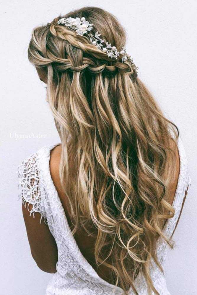 Haar Frisuren Chic Half Up Brautjungfer Frisuren Für Lange Haare
