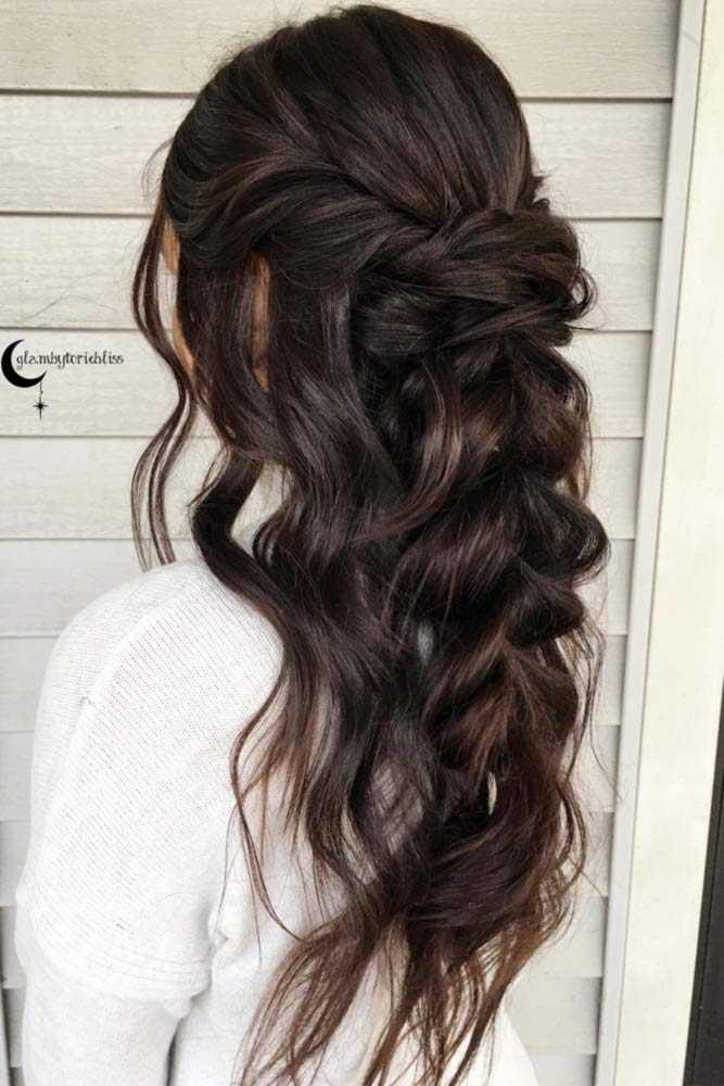 Chic Half Up Brautjungfer Frisuren Fur Lange Haare Haar Frisuren